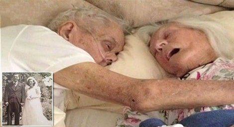 casamento1 - Eles Morreram Abraçados Depois de 75 Anos de Casamento - EMOCIONANTE
