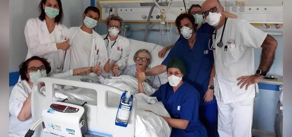nonna 1 1024x480 1 - Mulher de 95 anos é curada do novo coronavírus na Itália